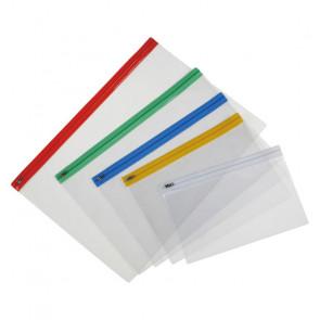 BUSTA IN PLASTICA CON CHIUSURA A ZIP FORMATO A4+