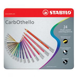 MATITE STABILO CARBOTHELLO 24 COLORI CASSETTA DI METALLO