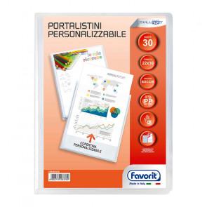 PORTALISTINI 22X30 30 BUSTE COPERTINA TRASPARENTE PERSONAL.