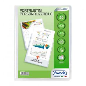 PORTALISTINI 22X30 50 BUSTE COPERTINA TRASPARENTE PERSONAL.