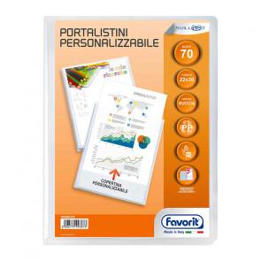 PORTALISTINI 22X30 70 BUSTE COPERTINA TRASPARENTE PERSONAL.