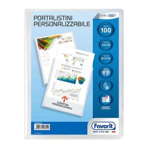 PORTALISTINI 22X30 100 BUSTE COPERTINA TRASPARENTE PERSONAL.
