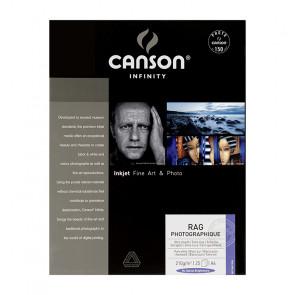 CANSON RAG PHOTOGRAPHIQUE 210g A4 (21X29.7) 25 f 100% COTONE