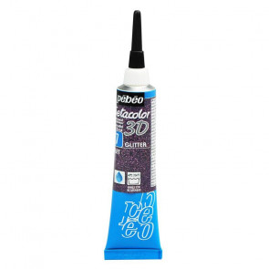 SETACOLOR 3D N. 07 TUBO 20 ml  GLITTER VIOLA