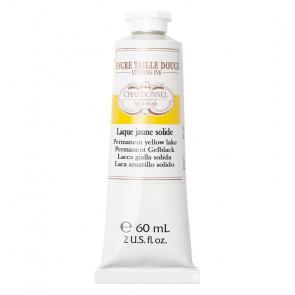 CHARBONNEL ENCRE TAILLE DOUCE LAQUE JAUNE SOLIDE TUBO 60 ml