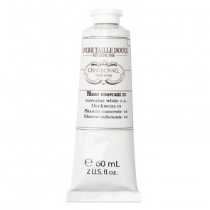 CHARBONNEL ENCRE TAILLE DOUCE BLANC COUVRANT RS TUBO 60 ml