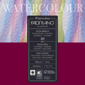 BLOCCO WATERCOLOUR 20X20 20 FOGLI 200 g/m² GRANA FINE
