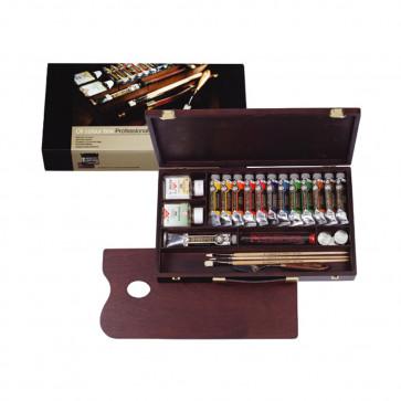 cassetta legno olio rembrandt 12 tubi 40 ml + accessori