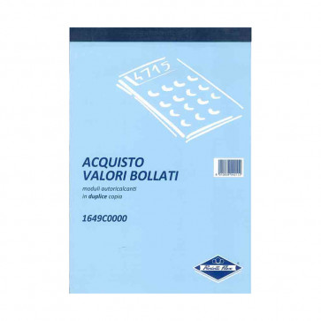 ACQUISTO VALORI BOLLATI MODULI AUTOCALCANTI 2 COPIE 15X20