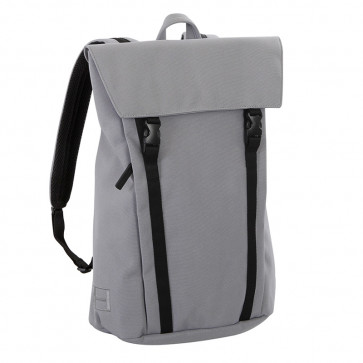 MH WAY BELL BACKPACK LARGE    WITH FLAP 2 BUCKLES LIGHT GREY