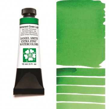 ACQUERELLO DANIEL SMITH 15ml  S1 PERMANENT GREEN LIGHT