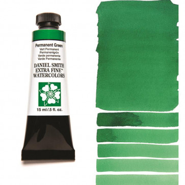 ACQUERELLO DANIEL SMITH 15ml  S1 PERMANENT GREEN