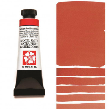 ACQUERELLO DANIEL SMITH 15ml  S3 CADMIUM RED SCARLET HUE