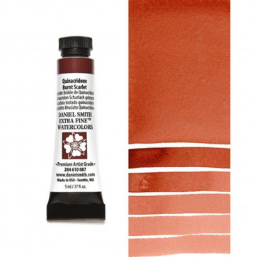 ACQUERELLO DANIEL SMITH 5ml S2 QUINACRIDONE BURNT SCARLET