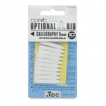 10 PUNTE DI RICAMBIO CALLIGRAPHY 5 mm PER PENNARELLI COPIC
