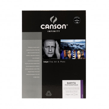 CANSON BARYTA PHOTOGRAPHIQUE  310 g/m² A3 29,7X42 25 FOGLI