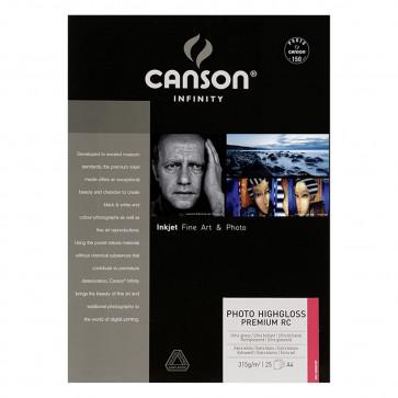 CANSON PHOTO HIGHGLOSS PREMIUM RC 315g A4 21X29,7 25 FOGLI