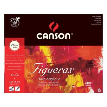 BLOCCO CANSON FIGUERAS 33X41cm 10 FOGLI 290 g/m²