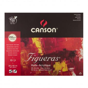 BLOCCO CANSON FIGUERAS 38X46cm 10 FOGLI 290 g/m²