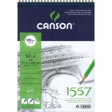 BLOCCO CANSON 1557 A4 50 FOGLI 120 g/m² RILEGATI A SPIRALE