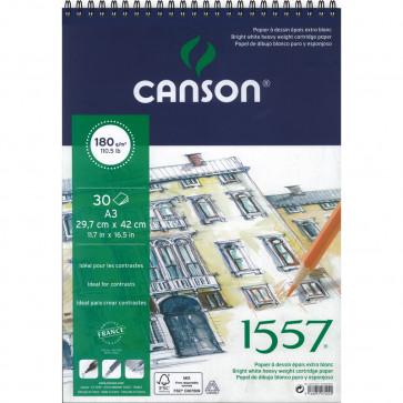 BLOCCO CANSON 1557 A3 30 FOGLI 180 g/m² RILEGATI A SPIRALE