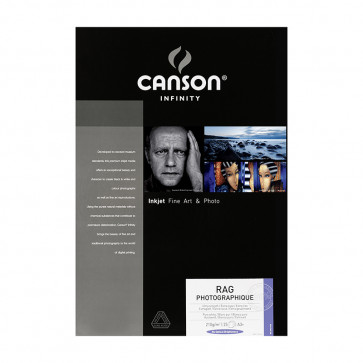 CANSON RAG PHOTOGRAPHIQUE 210g A3+ 39.2X48.3 25f 100% COTONE