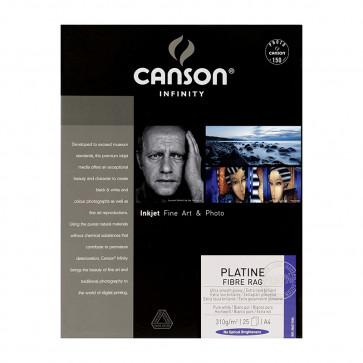 CANSON PLATINE FIBRE RAG 310g A4 21X29.7 25 f 100% COTONE