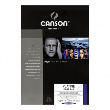 CANSON PLATINE FIBRE RAG 310g A3+ 32.9X48.3 25f 100% COTONE