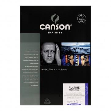 CANSON PLATINE FIBRE RAG 310g A2 42X59.4 25 f 100% COTONE
