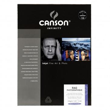 CANSON RAG PHOTOGRAPHIQUE 310g A3 (29.7X42) 25f 100% COTONE