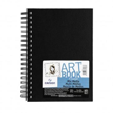 ART BOOK C À GRAIN 18X25,4 cm 40 FOGLI 224 g/m² RIL. SPIRALE