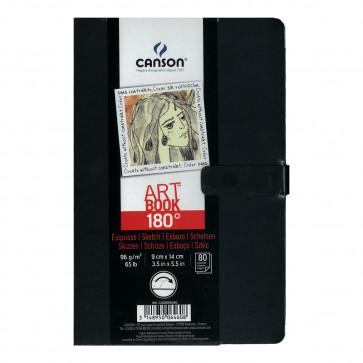 CANSON ART BOOK 180° 80 F. 96 g/m² 9X14 COPERTINA RIGIDA