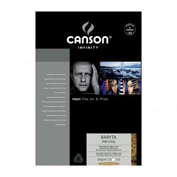 CANSON BARYTA PRESTIGE 340 g/m A3 29,7X42 25 FOGLI