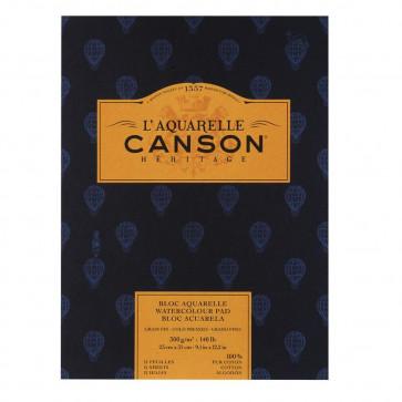 BLOCCO CANSON HERITAGE 23X31cm 12 FF 300 g/m² GRANA FINE