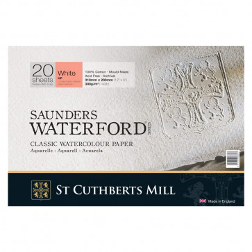 BLOCCO SAUNDERS WATERFORD 31X23 cm 20 FF 300 g/m  WHITE CP