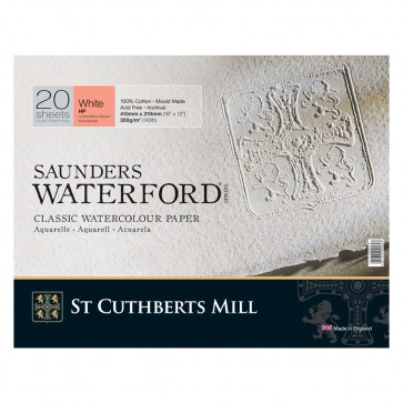 BLOCCO SAUNDERS WATERFORD 41X31 cm 20 FF 300 g/m  WHITE HP