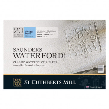 BLOCCO SAUNDERS WATERFORD 26X18 20 FF 300 g/m  WHITE CP(NOT)