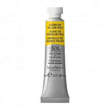ACQUERELLO WINSOR & NEWTON S4  CADMIUM YELLOW PALE TUBO5ml
