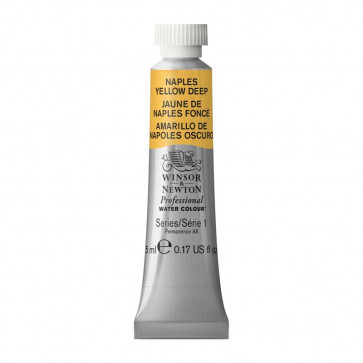 ACQUERELLO WINSOR & NEWTON S1  NAPLES YELLOW DEEP TUBO 5ml
