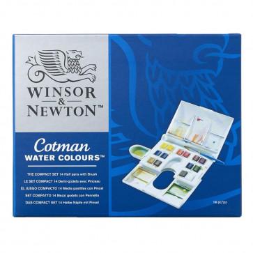 WINSOR & NEWTON COTMAN COMPACT SET 14 ½ GODET + PENNELLO