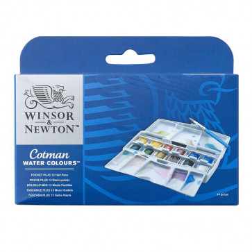 WINSOR & NEWTON COTMAN POCKET PLUS 12 ½ GODET + PENNELLO