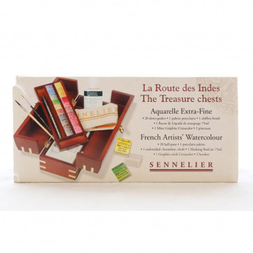 ACQUERELLI SENNELIER VIA DELLE INDIE 20 ½ GODET BOX LEGNO