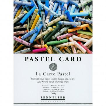 BLOCCO PASTEL CARD SENNELLIER 12 FOGLI 30X40 360g 6 COLORI