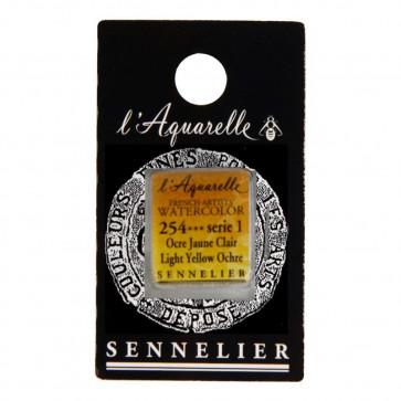 ACQUERELLO SENNELIER ½ GOD 254 S1 LIGHT YELLOW OCHRE