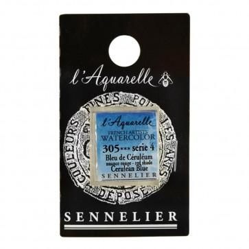 ACQUERELLO SENNELIER ½ GOD 305 S4 CERULEAN BLUE RED SHADE