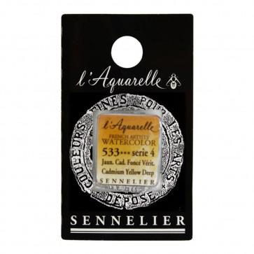 ACQUERELLO SENNELIER ½ GOD 533 S4 CADMIUM YELLOW DEEP