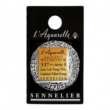 ACQUERELLO SENNELIER ½ GOD 537 S4 CADMIUM YELLOW ORANGE