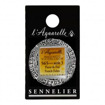 ACQUERELLO SENNELIER ½ GOD 565 S3 FRENCH OCHRE
