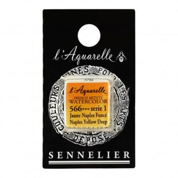 ACQUERELLO SENNELIER ½ GOD 566 S1 NAPLES YELLOW DEEP