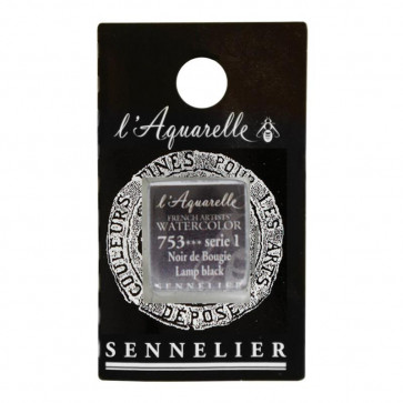 ACQUERELLO SENNELIER ½ GOD 753 S1 LAMP BLACK